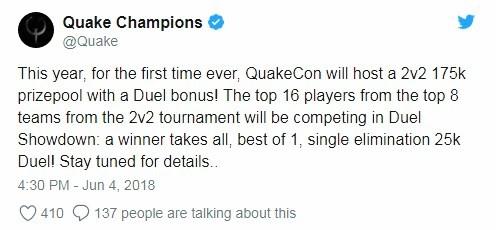 На QuakeCon разыграют свыше $175 000 в турнире 2 на 2