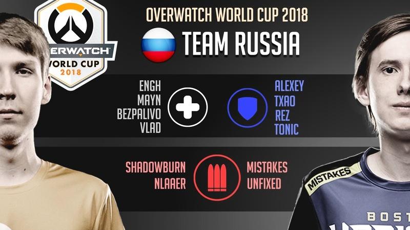 uNFixed и ShaDowBurn сыграют за сборную России на Overwatch World Cup 2018